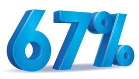 Percentage vector, 67 Royalty Free Stock Photo