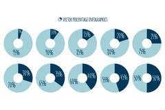 Percentage vectorinfographics Royalty-vrije Stock Fotografie