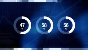 Percentagecirkeldiagrammen als Technologie, Wetenschap, Gegevensanalyse, Bedrijfs, Financiën of Economie illustratieve achtergron stock illustratie