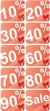 Percentageetiketten Royalty-vrije Stock Afbeelding