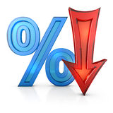 Percentages and arrow Stock Photos