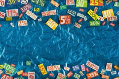 PERCENTAGES background Stock Photo