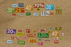 PERCENTAGES background Stock Photos