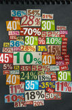 PERCENTAGES background Royalty Free Stock Images