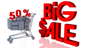 50 percentages big sale. In 3d Stock Photography