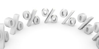 Percentages in a circle Stock Images