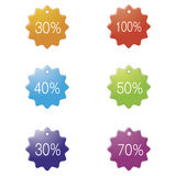 Percentages set icon. Royalty Free Stock Images