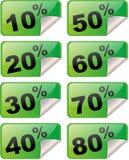 Percentagestickers Stock Afbeelding