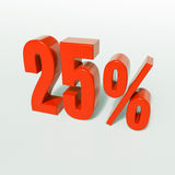 Percentageteken, 25 percenten Stock Foto