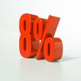 8 percentageteken, 8 percenten royalty-vrije stock afbeelding