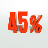 Percentageteken, 45 percenten Royalty-vrije Stock Afbeeldingen