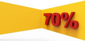 70 percenten bedrijfsconcepten als achtergrond Stock Afbeeldingen