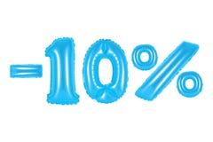 10 percenten, blauwe kleur Stock Afbeeldingen