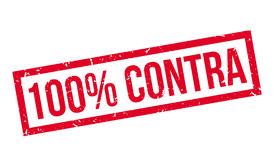 100 percenten contra rubberzegel stock illustratie