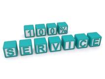 100 percenten de dienst  stock illustratie