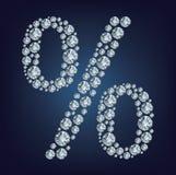 Percenten die van diamanten worden gemaakt Royalty-vrije Stock Foto's
