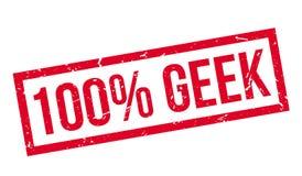 100 percenten geek rubberzegel Royalty-vrije Stock Afbeelding