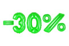 30 percenten, groene kleur Stock Afbeelding