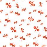 Percenten naadloos bedrijfspatroon De achtergrond van bevorderingsfinanciën voor verkoopaanbieding Percenten naadloos patroon Stock Foto