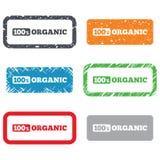 100 percenten organisch teken. Natuurvoedingsymbool Royalty-vrije Stock Foto