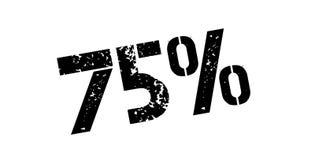 75 percenten rubberzegel Royalty-vrije Stock Afbeelding