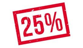 25 percenten rubberzegel Stock Afbeelding