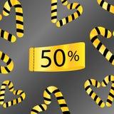 50 percenten van gouden grijze achtergrond van de verkoop de korting beperkte tijd royalty-vrije illustratie