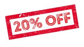20 percenten van rubberzegel Royalty-vrije Stock Afbeeldingen