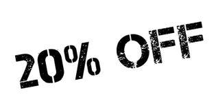 20 percenten van rubberzegel Stock Afbeeldingen