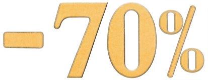 Percenten weg korting Minus 70 zeventig percenten, cijfers isolat Royalty-vrije Stock Foto's