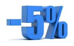 5 percentenkorting Stock Afbeeldingen