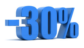30 percentenkorting Royalty-vrije Stock Fotografie