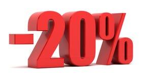 20 percentenkorting Royalty-vrije Stock Foto's