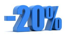 20 percentenkorting Royalty-vrije Stock Foto