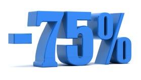 75 percentenkorting Stock Foto's