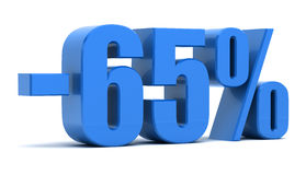 65 percentenkorting Stock Foto's