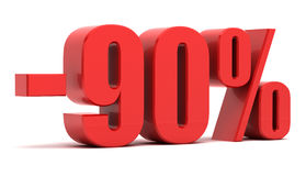 90 percentenkorting Stock Afbeelding