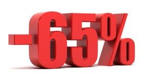 65 percentenkorting Royalty-vrije Stock Fotografie