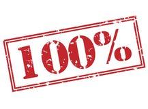 100 percentenzegel op witte achtergrond Stock Afbeeldingen