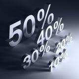 Percents. 3d renderen illustration of percents Stock Illustration