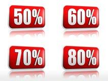 50 60 70 80 percents Στοκ φωτογραφίες με δικαίωμα ελεύθερης χρήσης
