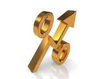 Percentuale dorata Immagine Stock Libera da Diritti