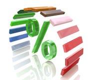 Le percentuali e l'arcobaleno Fotografie Stock Libere da Diritti