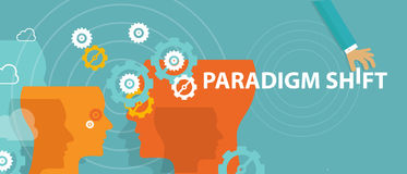 Percepção em mudança da ideia da reconsideração do novo conceito do deslocamento do paradigma Fotos de Stock