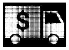 Percepteur tramé blanc Car Icon illustration de vecteur