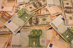 Perception de divers argent Images libres de droits