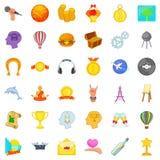 Perception icons set, cartoon style. Perception icons set. Cartoon set of 36 perception vector icons for web isolated on white background Stock Images