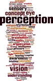 Perception word cloud. Concept. Vector illustration stock illustration