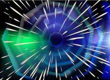 Percez un tunnel avec la vitesse de la lumière d'étoiles, nébuleuse illustration stock