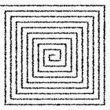 Percez un tunnel, avez tordu la spirale sur le fond blanc, modèle psychédélique, illustration libre de droits